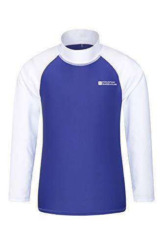 Mountain Warehouse Camiseta térmica para niños - Camiseta térmica con protección UV, Camiseta térmica de Manga Larga para niños, Costuras Planas Blanco 5-6 Años