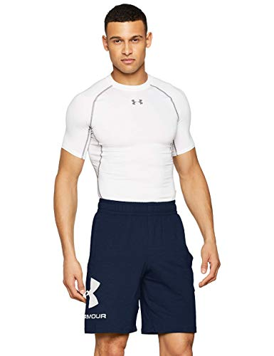 Under Armour Sportstyle Cotton Logo Shorts, Pantaloncini Uomo, Blu (Academy/White 408), L