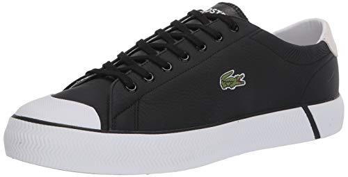 Lacoste Men's Gripshot Sneaker, Black/Off White Leather, 13 Medium US