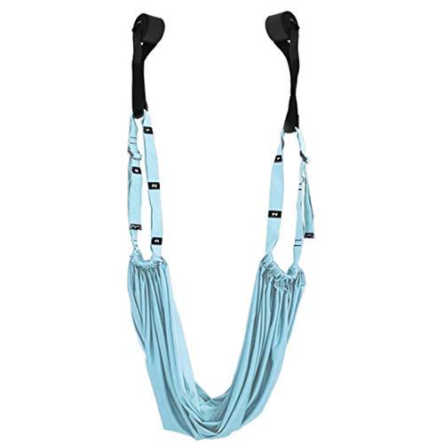 Huante Cuerda de Yoga Estira la Pierna Divide PráCtica Barra de Estiramiento EláStico y Dobla para Estirar Yoga Handstand Training Azul