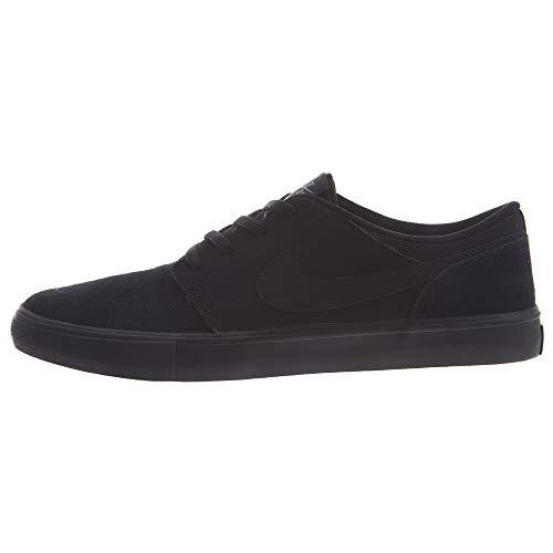 Nike SB Portmore II Solar, Zapatillas de Skateboard Unisex Adulto, Negro (Black/Black/Gunsmoke 005), 43 EU