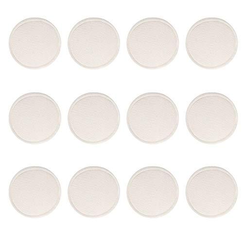 Donpow Lot de 12 tampons démaquillants en bambou lavables réutilisables pour lingettes pour le visage Lèvres pour les yeux Blanc