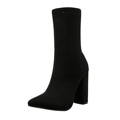 Ginli Tacchi Stivali, 20% Stivali Donna Invernali Autunno con Tacco Boots Stivaletti Stivali Sexy Tacchi Alti Casual Blocco Tacco