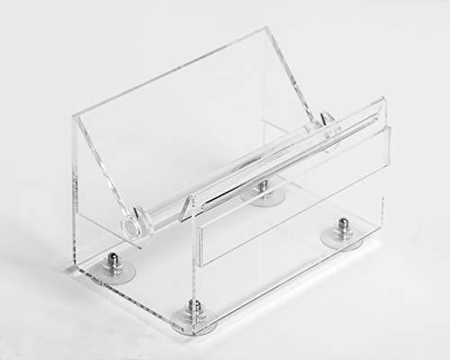Labeltrading HACCP transparante Kunststof dispenser exclusief 7 rollen dagstickers ,strakke dispenser, past in elke keuken, hygiënisch verantwoord, navulbaar, ook los verkrijgbaar,met zuignappen