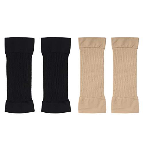 LIOOBO 2 Paare Kompression Arm Ärmel Lymphödem Armwärmer Former Armstulpen Armstrumpf Armmanschette Kompressionsmanschette für Ellbogen Arm Sleeve
