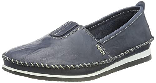Andrea Conti 1887801 Damen Slipper Mokassins, Größe:40 EU, Farbe:Blau