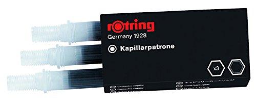 Kapillarpatrone für rotring Rapidograph Tuschefüller, schwarz, Packung à 3St. 5 Packungen