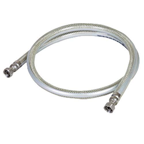 Tuyau gaz 1.50m GAZ NATUREL DE VILLE GARANTIE A VIE Flexible GN INOX PVC avec Amature renforcée