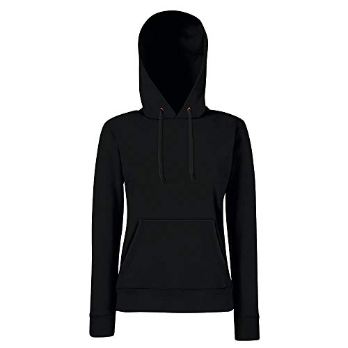 Fruit of the Loom - Lady-Fit Hooded Sweat M,Black