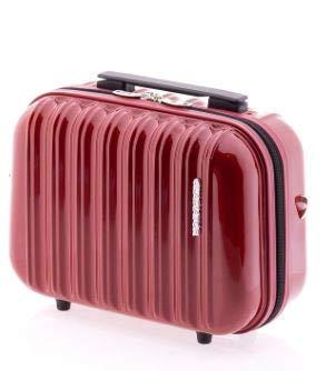 Beauty Case Étui rigide à roulettes avec bandoulière amovible 34 x 27 x 18 cm 1,1 kg 16 l, rouge (Rouge) - GLA-2496-Beauty