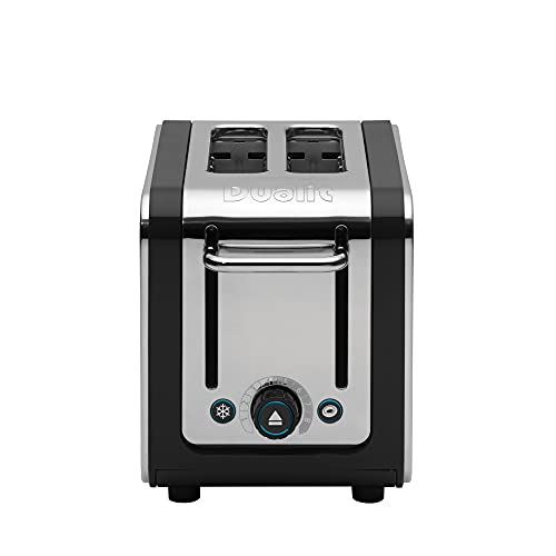 Dualit Toaster, 11.5 x 6.7 x 8.1 inches, Black and Steel