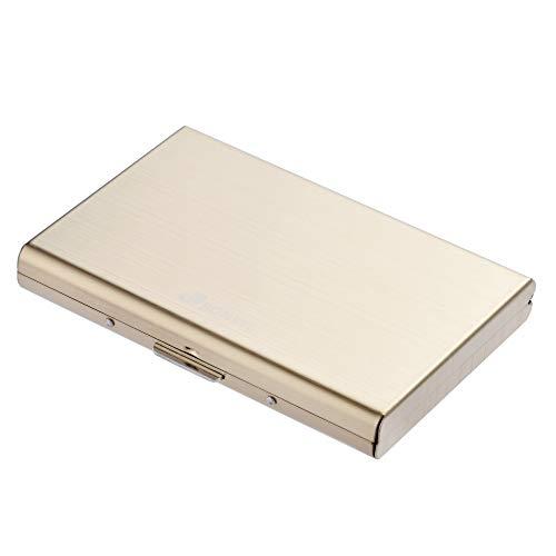RFID Delgado Billetera de Acero Inoxidable con Tecnología de Bloqueo RFID Que Protege Tus Tarjetas de Crédito y DNI para Tarjetero con 6...