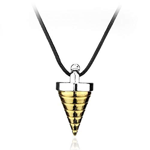 Davitu KINON Tengen Toppa Gurren Lagann Tengentoba Gulenlagan Core Drill Figure Pendants Necklace Gold Jewelry Gift for Children Men - (Metal Color: 1657)