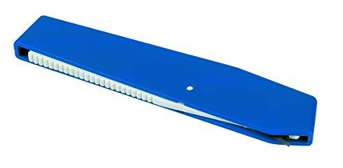 peha Clipmesser - Kartonmesser mit automatisch versenkter Klinge, blau