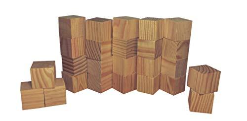 24 unidades de madera para manualidades cubos cuadrados de 4cm para pintar o decorar en madera sin acabar
