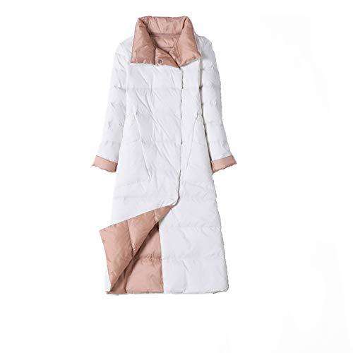 Damen Skijacke Daunenjacke mit Taschenpolsterjacke Gr. 52, weiß