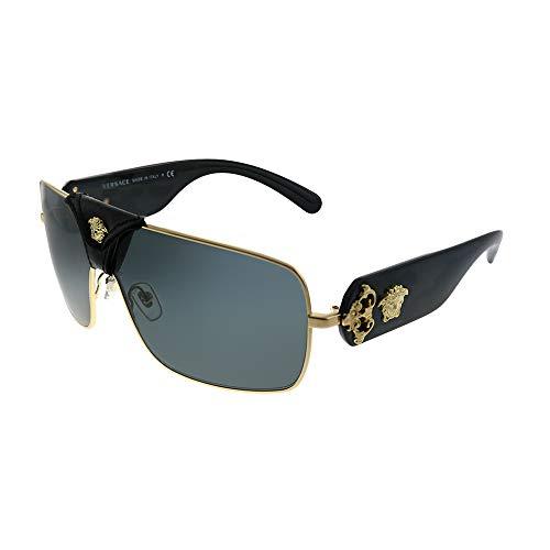 Ray-Ban Unisex-Erwachsene 0VE2207Q Sonnenbrille, Braun (Gold), 40.0