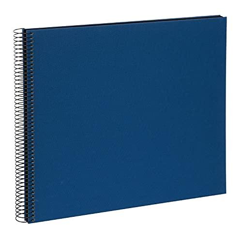 goldbuch 25996 Spiralalbum Bella Vista, Foto Album 35 x 30 cm, Fotoalbum mit 40 schwarze Seiten, Erinnerungsalbum aus Leinen, Fotobuch für Bilder und Fotos zum Einkleben, Blau