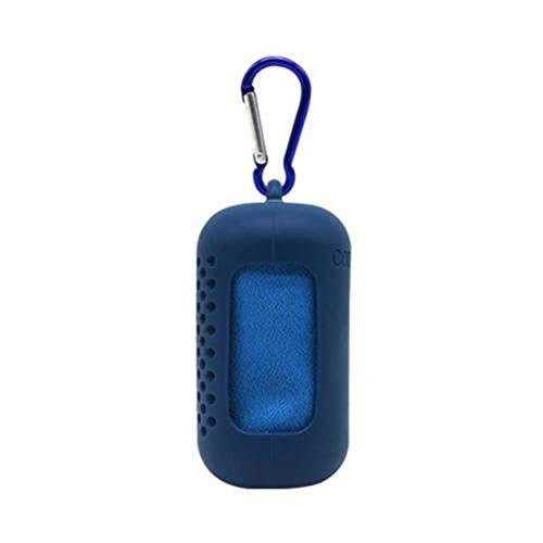 LASISZ Portable Microfiber Fast Dry Gym Cycling Beach Sports Cooling Shower Bath Towel,Dark Blue Large