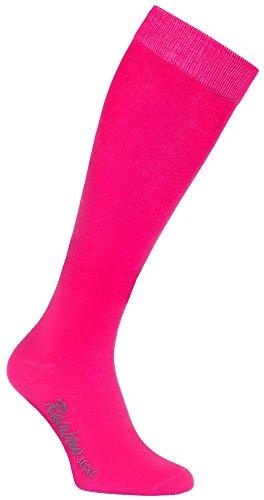 Rainbow Socks - Damen Herren Bunte Baumwolle Kniestrümpfe - 1 Par - Rosa - Größen 39-41