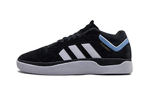 adidas Tyshawn Skate Shoe - Black/White/Light Blue