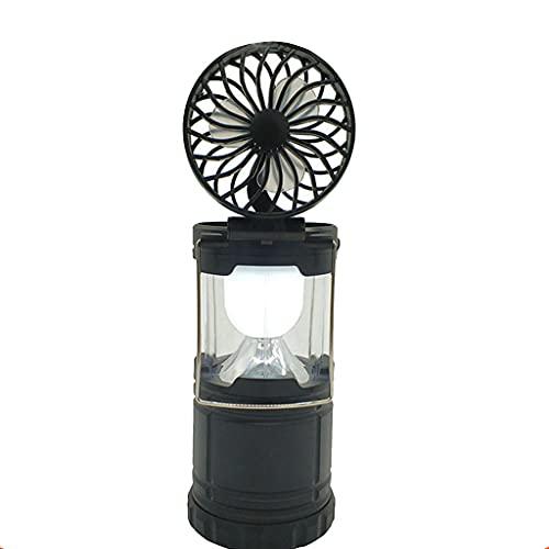 HUIJUAN Luz LED 2 en 1 para tienda de campaña, para iluminación exterior, situaciones de emergencia, ventilador de luz colgante