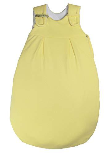 Picosleep Babyschlafsack gelb I ganzjährig I für Frühchen I mit Seitenreißverschluss und Klett I Baumwolle I unisex (38/44)