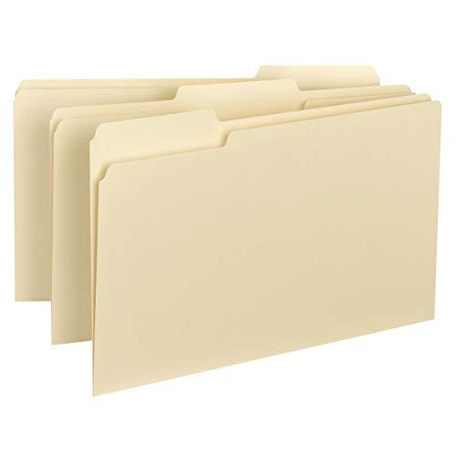 Smead Interior File Folder, 1/3-Cut Tab, Legal Size, Manila, 100 per Box (15230)
