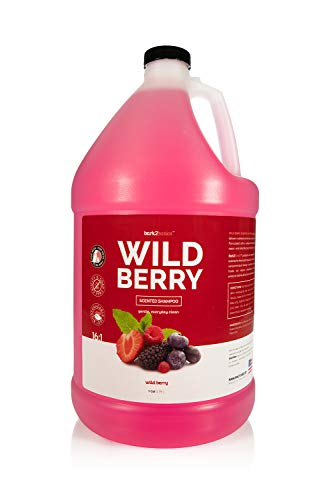 Bark 2 Basics Wild Berry Dog Shampoo, 1 Gallon | Unique Herbal Blend, Finest Natural Ingredients, Handcrafted, Soap-Free & Cruelty-Free, Protects and Nourishes Skin and Coat