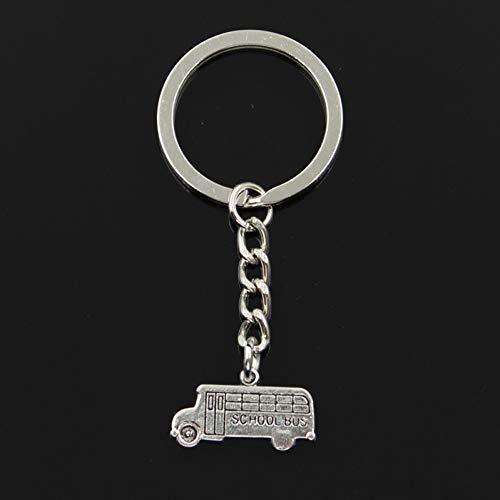 N/A SGDONG sleutelhanger 13 x 23 mm bus school auto hanger knutselen mannen sieraden auto sleutelhanger sleutelhanger cadeau