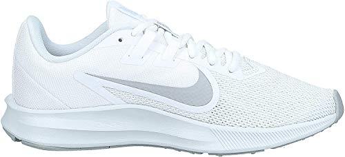Nike Women's Downshifter 9 Running Shoe, White/Wolf Grey-Pure Platinum, 5 Regular US