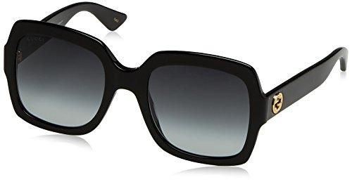 Gucci Damen GG0036S 001 Sonnenbrille, Schwarz (Black/Grey), 54