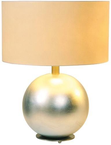 Holländer Céramique Lampes de table Epsilon en Nickel Feuille d'argent | Travail artisanal fait à la main Qualité de