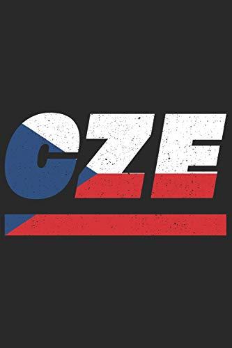 CZE: Tschechien Tagesplaner mit 120 Seiten in weiß. Organizer auch als Terminkalender, Kalender oder Planer mit der tschechischen Flagge verwendbar