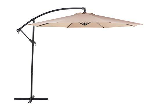 Beliani Trendy Sonnenschirm da. 300 cm Polyester/Metall Mokka Ravenna