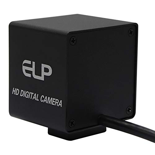 ELP Ultra HD 4K Webcam mit No-Distortion Objektiv, IMX317 Sensor PC Mini Webkamera Unterstützung 3840x2160@30fps,2160P USB Videokonferenz Webcams für Mac/Windows/Linux/Raspberry Pi USB4KHDR01-KL100