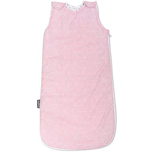 Baby Schlafsack Innenschlafsack für Neugeborene und Kleinkinder - aus 100% Baumwolle - ToG 2.5 - ÖKO-TEX - Ganzjährig Babyschlafsack für Sommer & Winter - Anpassbar 60/75 cm - Aurora