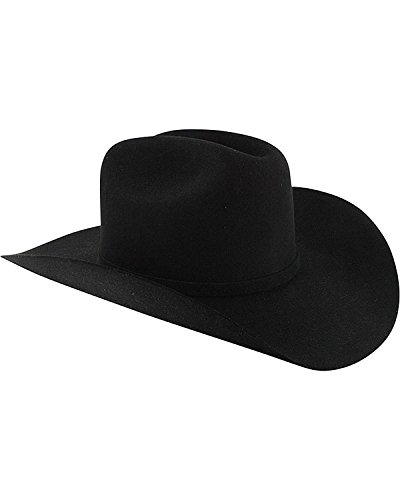 Stetson Men's Apache 4X Buffalo Felt Cowboy Hat Black 7 1/8