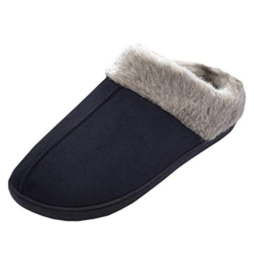 Yefree Zapatillas de algodón para el hogar de los Hombres, Antideslizantes, de...