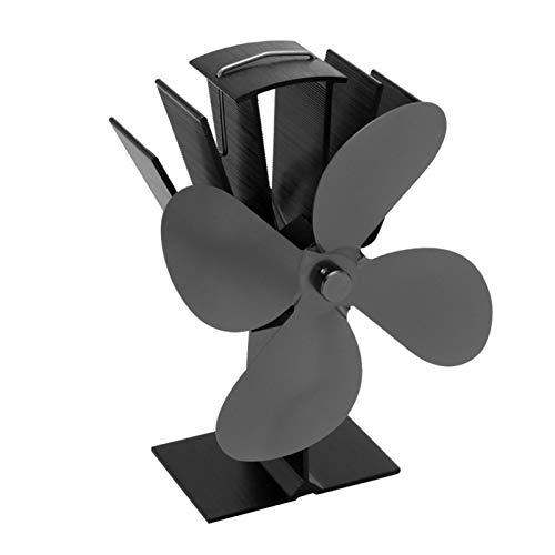 Ventilador estufa, Ventilador de Chimenea con 4 aspas de rotor Ventilador de Estufa por calor Ventilador ecológico Circulación de calor Para Estufas, Chimeneas
