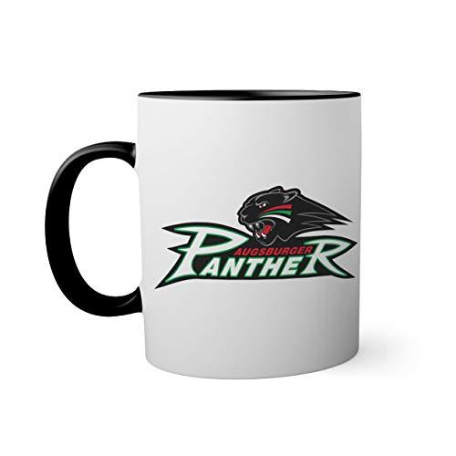 Ice Hockey Team Augsburger Panther Eishockey Schwarze Innenseite mit passendem Henkelbecher Mug| Lustige Neuheitstassen für Kaffee-Tee 330ml