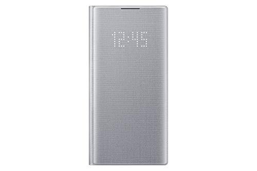 SAMSUNG - Custodia per Samsung Galaxy Note 10 LED View - argento, (EF-NN970PSEGWW)
