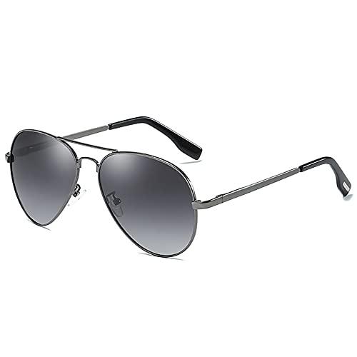 MOMAMOM Gafas De Sol Polarizadas Hombre ProteccióN UV Aire Libre Conducción Vintage CláSico Lentes Piloto Viaje Neutrales Moda Ovalada Metal Ligero Marco Golf Gradient Gray