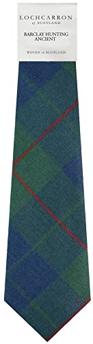 I Luv Ltd Gents Neck Tie Barclay Hunting Ancient Tartan Lightweight Scottish Clan Tie