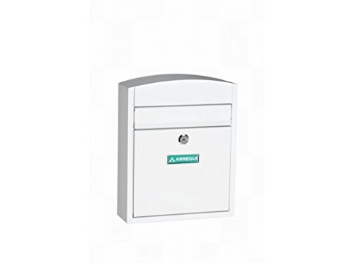 Arregui E5731 Buzon para exterior de acero modelo Compact color blanco. Dimensiones (Altoxanchoxfondo): 285x240x95mm