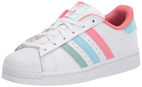 adidas Originals Zapatillas Unisex Child Superstar White/Hazy Rose/Hazy Sky, 11,5 Little Kid US