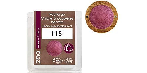 ZAO REFILL Pearly Eyeshadow 115 rubinrot weinrot pflaume Lidschatten schimmernd / Perlglanz