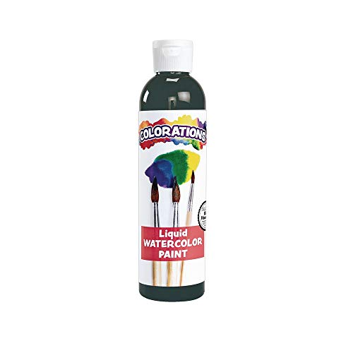 Colorations-LWBK Liquid Watercolor Paint For Kids Black Arts and Crafts Material (8 oz) (Packaging may vary)