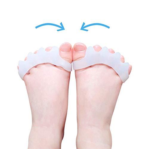 2pcs = 1pair Nueva Corrector del dedo del pie dedo del pie Alivio del juanete Separador Protectores de material de gel Martillo enderezadora Camillas Los separadores del dedo del pie dedo del pie