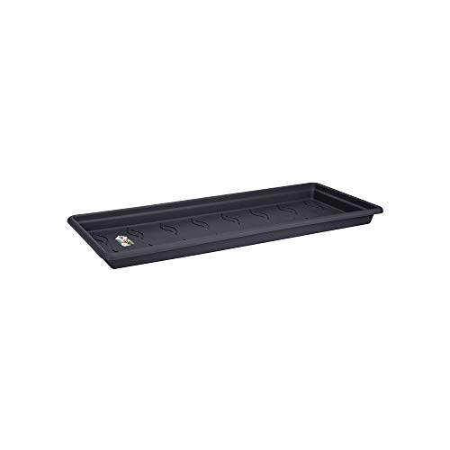 Elho Green Basics Sottovaso, Living Black, 100 cm